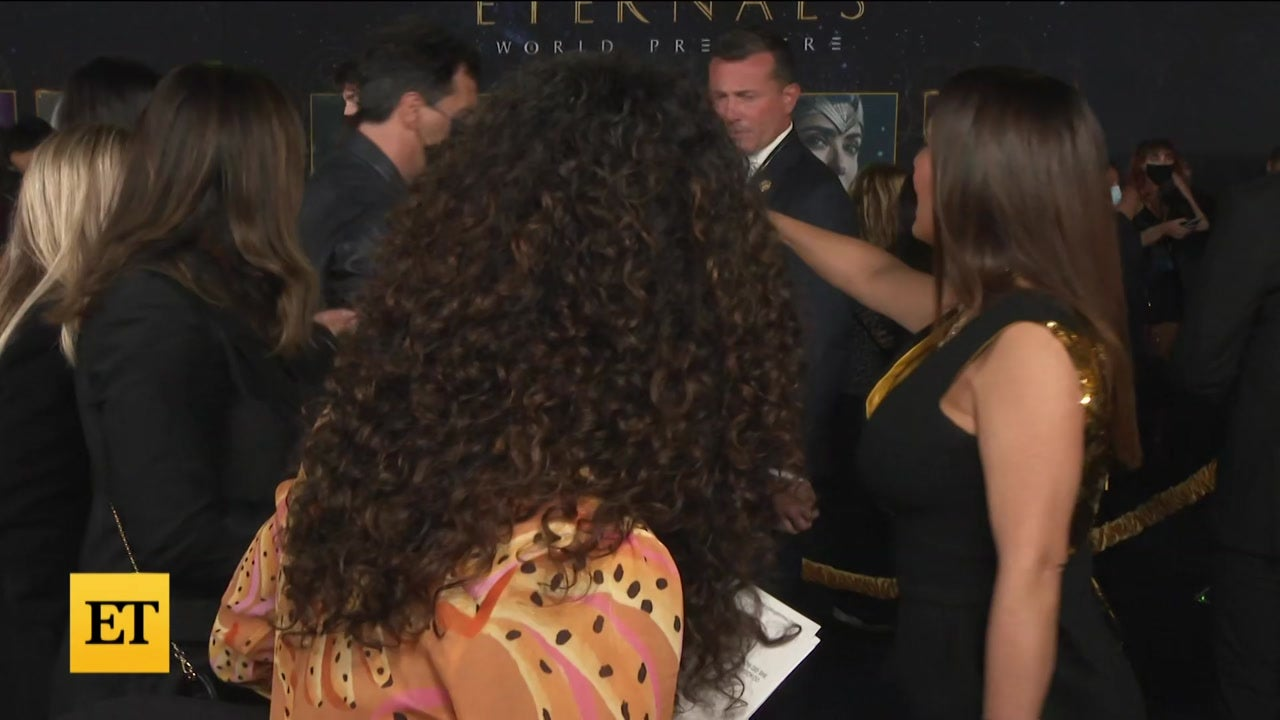Salma Hayek's Daughter Joins Her Interview at 'Eternals' Premiere
