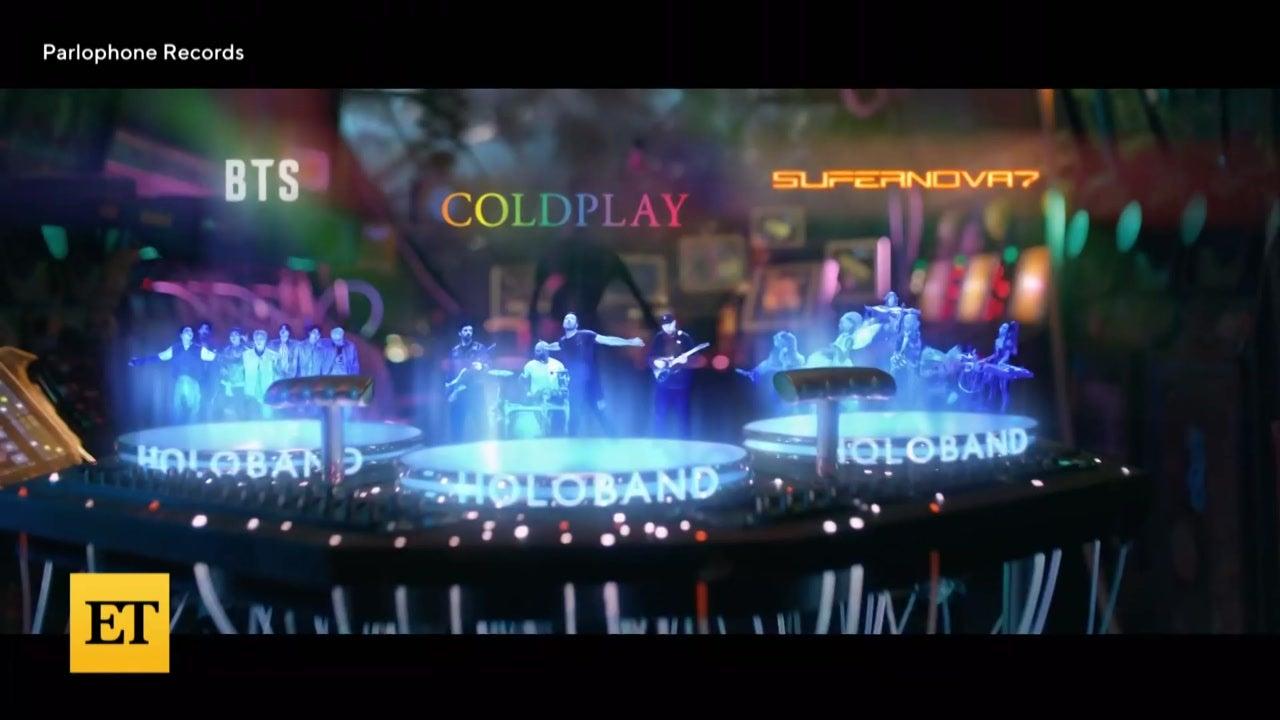 Watch Chris Martin Dedicate 'My Universe' to Dakota Johnson