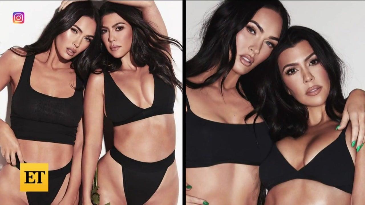Kourtney Kardashian and Megan Fox Go Topless in Provocative New Ad