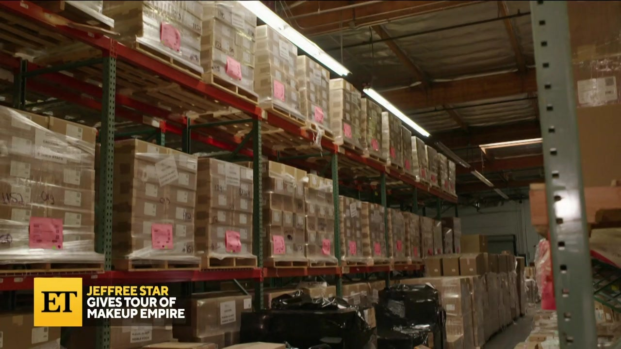 Jeffree Star Gives Tour of Makeup Empire