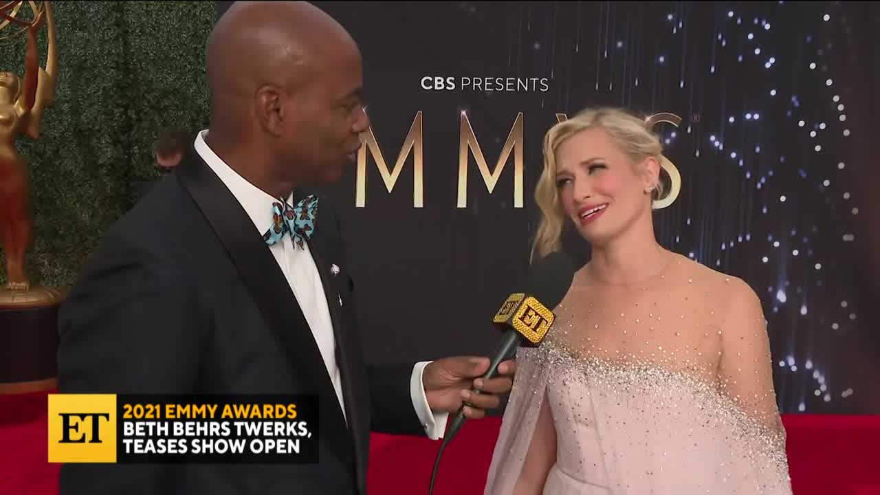 2021 EMMYS: Beth Behrs Twerks, Teases Show Open