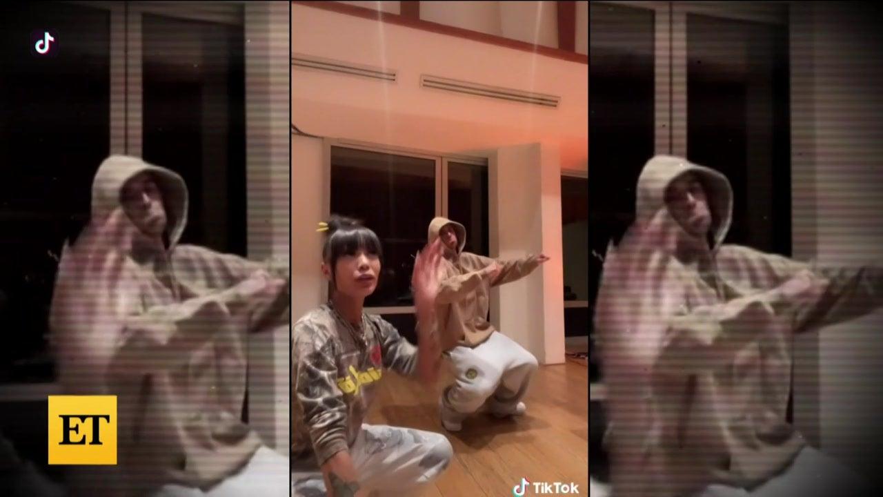 Justin Bieber Does TWINNEM TikTok Trend With Coi Leray!
