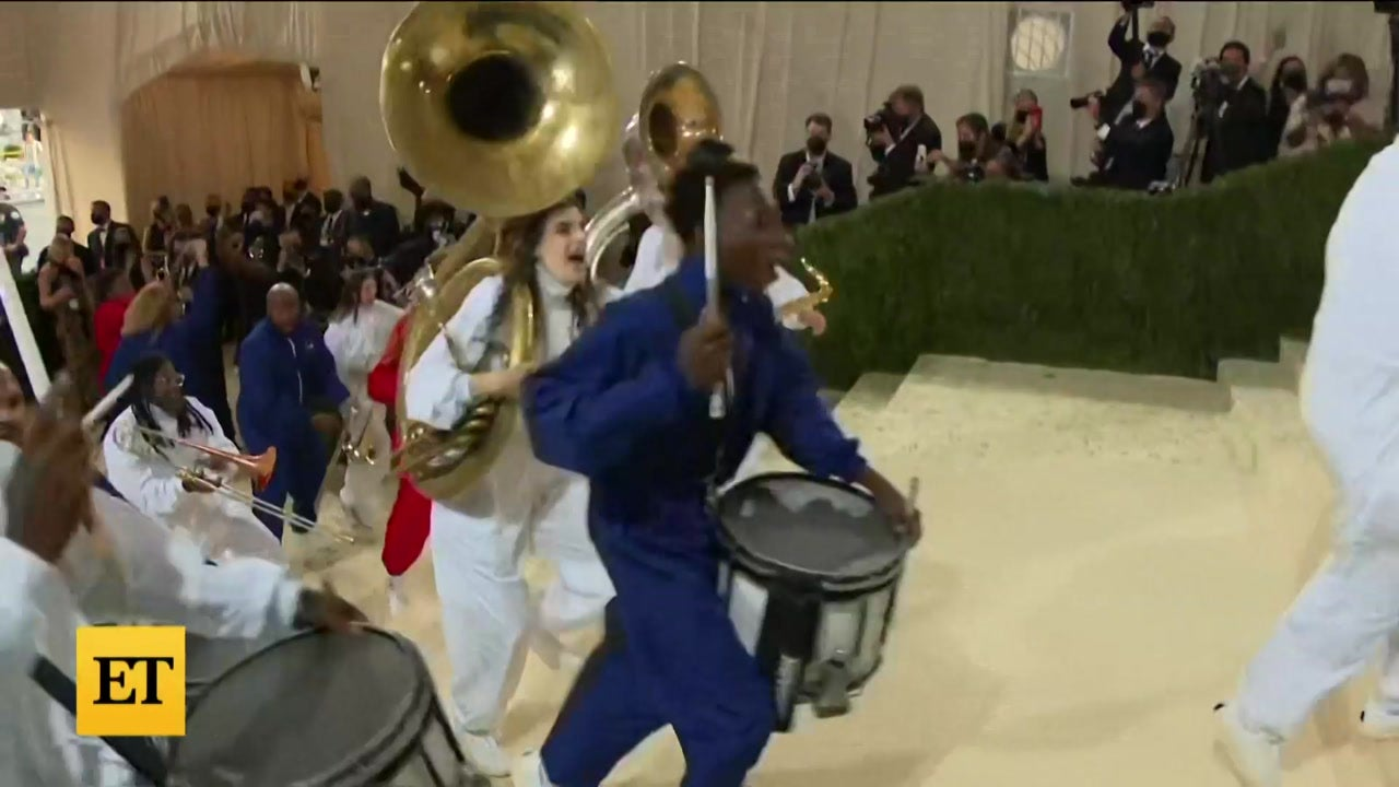 Met Gala 2021: Watch a Marching Band Take Over Red Carpet