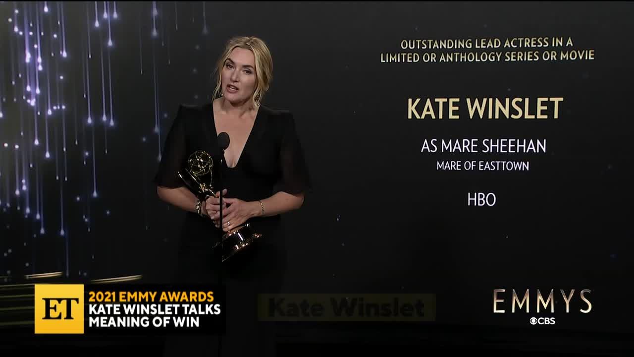 2021 EMMYS: Kate Winslet Talks Meaningful Win